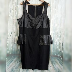 Torrid faux leather fitted sleeveless mini dress